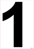 "6"" Inch Tall Black Vinyl Numbers"