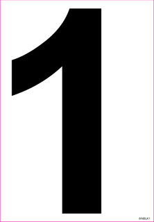 Zahl 1 Schwarz