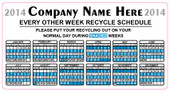 "3 x 5.75"" Custom Calendar Blue Sticker"