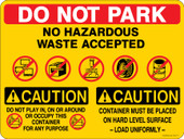 "9 x 12"" Do Not Park Multi Message Decal"
