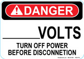 "5 x 7"" Danger Custom Volts Decal"