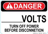 "5 x 7"" Danger Custom Volts Decal"
