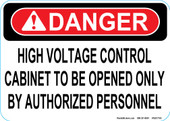 "5 x 7"" Danger High Voltage Control Decal"