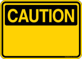 "5 x 7"" Caution Custom Decal"