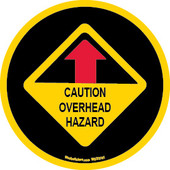 "3.75 x 3.75"" Caution Overhead Hazard Sticker"