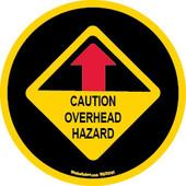 """3.75 x 3.75"""" Caution Overhead Hazard Sticker"""
