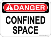 """5 x 7"""" Danger Confined Space Decal"""