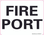 "4 X 5"" Fire Port Decal"