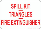 "5 x 7"" Spill Kit, Triangles,  Fire Extinguisher Decal"