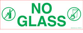 "3 x 8.5"" No Glass Sticker"