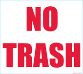 "9 x 10"" No Trash Decal"