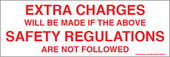 Extra Charges Safety Regulations Decal