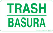 "3 x 5"" Trash Bilingual Sticker"