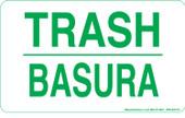 "3 x 5"" Trash Bilingual Sticker"