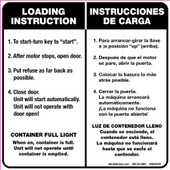 "6 x 6"" Load Instruction Bilingual Decal"