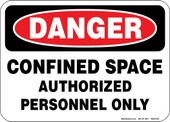 "5 x 7"" Danger Confined Space Authorized Personnel Only Decal"