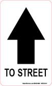 """3 x 5"""" Arrow To Street Decal"""