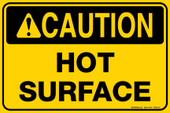 "8 x 12"" Caution Hot Surface Decal"