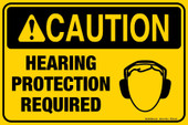 "8 x 12"" Caution Hearing Protection Required Decal"