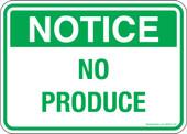 "5 x 7""  Notice No Produce Decal"