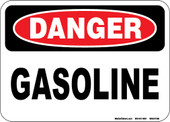 "5 x 7"" Danger Gasoline Decal"