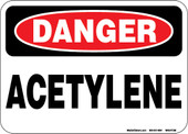 "5 x 7"" Danger Acetylene Decal"