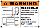 """5 x 7"""" Tailgate Safety Chain Decal"""