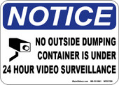 Notice container under video camera surveillance sticker.
