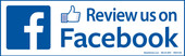 "4 x 12"" Review us on Facebook Decal"