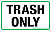 "3 x 5"" Trash Only Sticker"