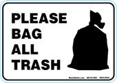 "5"" x 7"" Please Bag All Trash Decal."