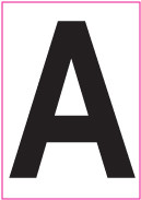 6 Inch Black Letter Decals