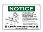 "6 x 9"" Notice Arrows Towards Street Decal"