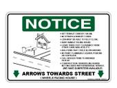 "6 x 9"" Notice Arrows Towards Street Decal"