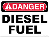 "9 x 12"" Danger Diesel Fuel Decal"