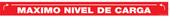 "3 x 36"" Maximo Nivel De Carga Spanish Maximum Loading Level Container Decal (RED)"