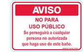 """5 x 7"""" AVISO No Para Uso Publico Decal"""