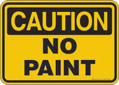 "5 x 7"" Caution No Paint Decal"