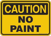 "5 x 7"" Caution No Paint Decal"