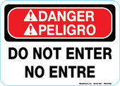 "5 x 7""  Bilingual Danger Do Not Enter"