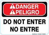 "5 x 7""  Bilingual Danger Do Not Enter"