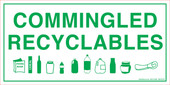 "6 x 12"" Commingled Recyclables Decal"