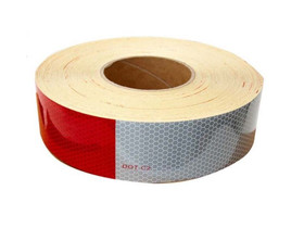 "DOT Conspicuity Tape made by 3M, 2"" X 150' Reflective and Conspicuous."