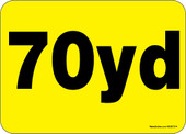 "5 x 7"" 70 Yard Roll-Off Container Decal"