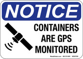 """5 x 7"""" Notice Containers are GPS Monitored Sticker Decal"""