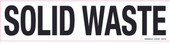 """4 x 17"""" Solid Waste Decal"""