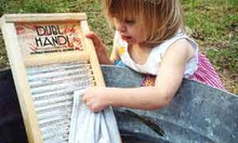 Washboard. Even the little ones can help.