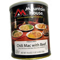 Beef Chili Macaroni #10 can Mountain House Freeze Dried food
