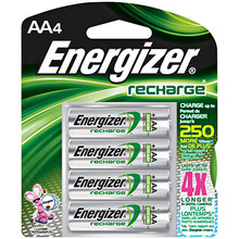 AA Rechargable Batteries 4pk NIMH