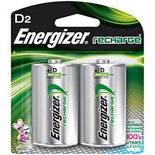 D Rechargable Batteries 2 pk NIMH